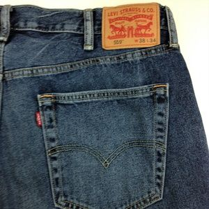 Men's Levis 559 Denim Blue Jeans